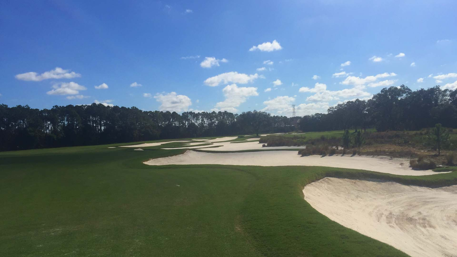 Photo of a sand bunker installed by Westscapes Golf Construction on Florida golf course.