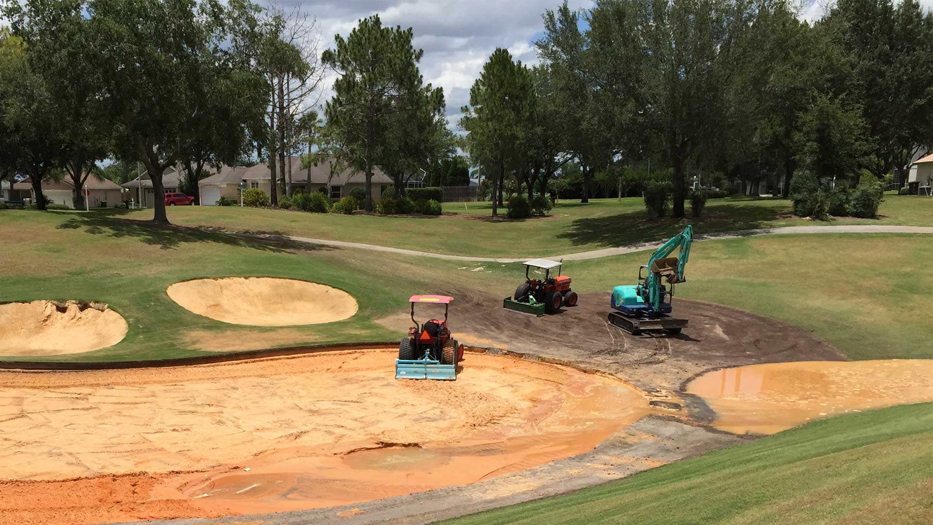 Golf course renovation in Florida, FL