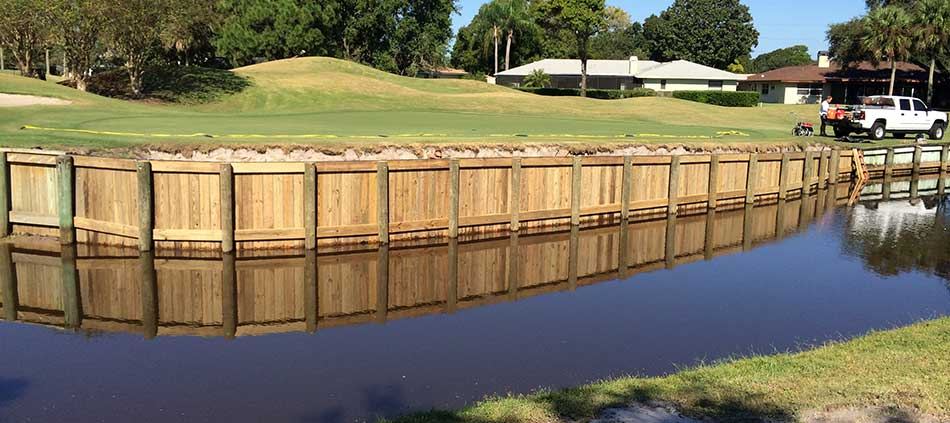 New timber bridge designed and constructed  by Westscapes Golf Construction.